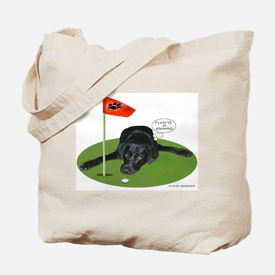 Black Lab Golfer Tote Bag