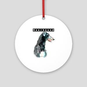 Deerhound Head Ornament (Round)