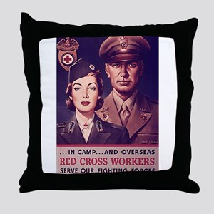 Red Cross Workers Throw Pillow