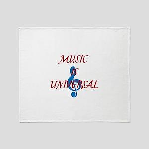 Music is Universal Throw Blanket
