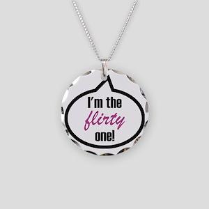 Im_the_flirty Necklace Circle Charm