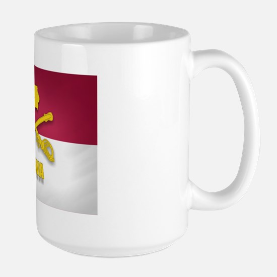 Iowa Cavalry (shadow)(3x5) Large Mug