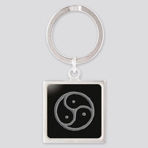s and m marble Square Keychain