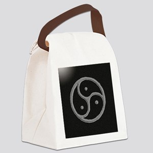 s and m marble Canvas Lunch Bag