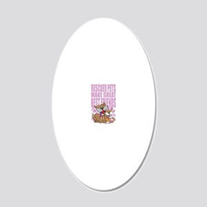 Great-Best-Friends-blk 20x12 Oval Wall Decal