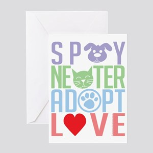 Spay-Neuter-Adopt-Love-2010 Greeting Card