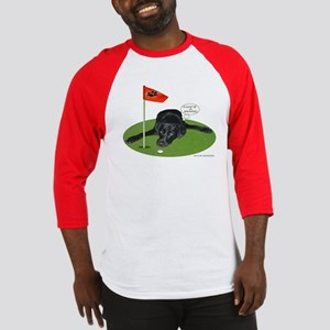 Black Lab Golfer Baseball Jersey