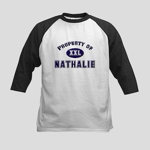 Property of nathalie Kids Baseball Jersey