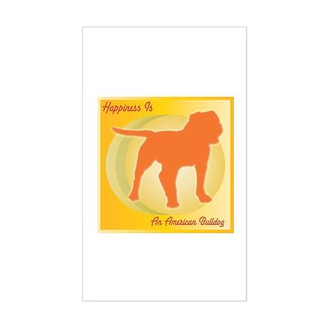 Bulldog Happiness Rectangle Sticker