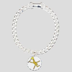 Clarinet Giraffe Charm Bracelet, One Charm
