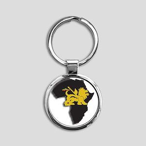 lion of judah africa Round Keychain