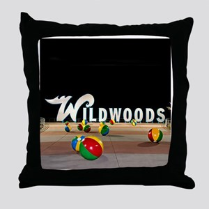 Wildwoods Sign Wildwood New Jersey Throw Pillow