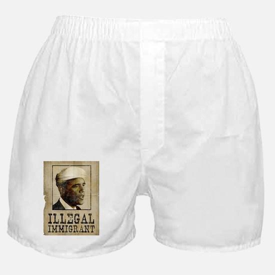 Obama Ilegal Immigrant Boxer Shorts