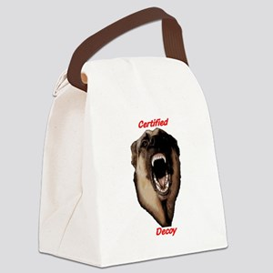 CK9D with dog RED (dark) FRONT AN Canvas Lunch Bag