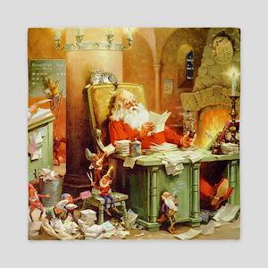 ! Santa Claus 50_SQ Queen Duvet