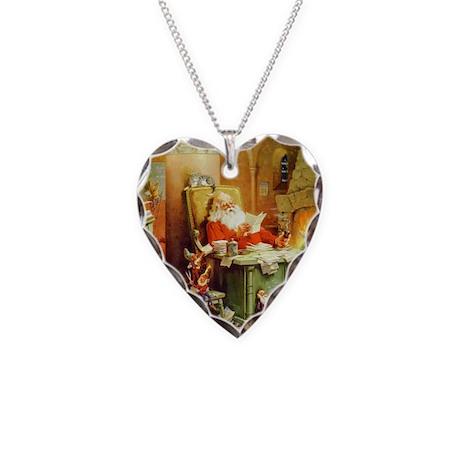 ! Santa Claus 50_SQ Necklace Heart Charm