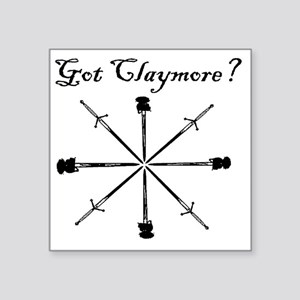 "got-claymore001b Square Sticker 3"" x 3"""