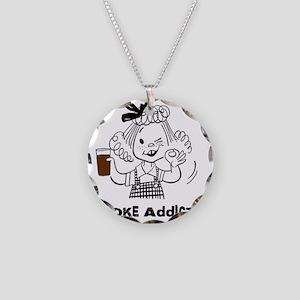 coke_black Necklace Circle Charm