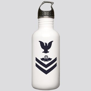 Navy-Rank-AC2-Whites Stainless Water Bottle 1.0L