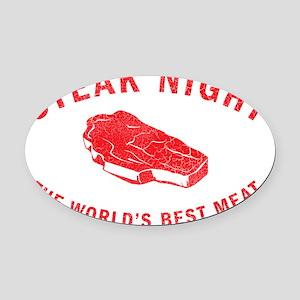 STEAKNIGHT Oval Car Magnet