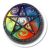 Wiccan Round Car Magnets