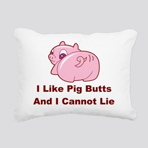 Pig Butts-001 Rectangular Canvas Pillow