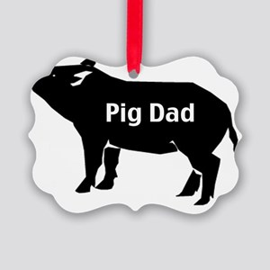 pig dad-001 Picture Ornament