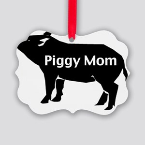 piggy mom-001 Picture Ornament