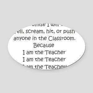 teachercreed Oval Car Magnet