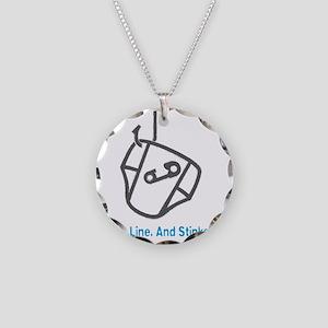 Fishing_HookLinkStinker_Blue Necklace Circle Charm