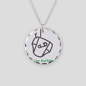 Fishing_HookLinkStinker_Gree Necklace Circle Charm