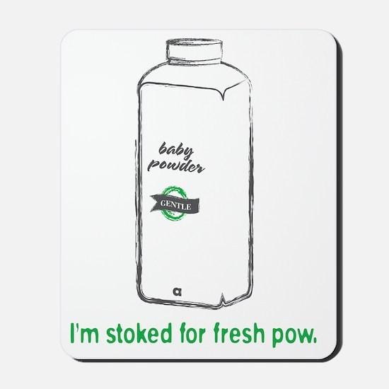 Snowsports_PowPow_Green Mousepad