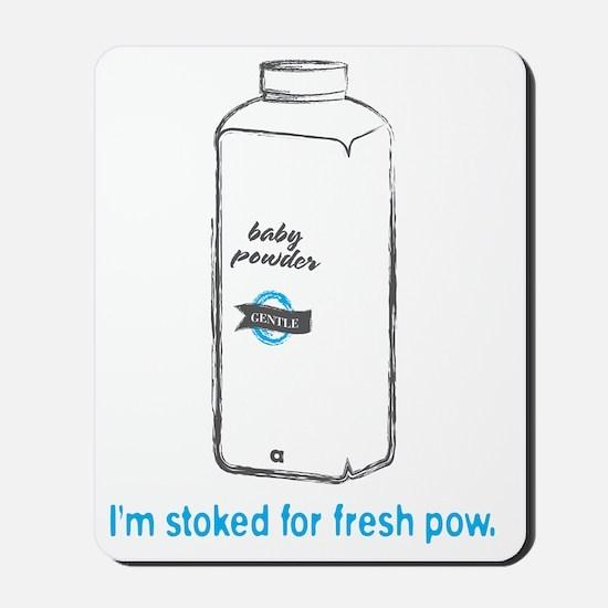 Snowsports_PowPow_Blue Mousepad
