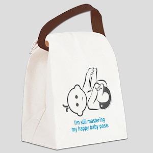 Yoga_HappyBaby_Blue Canvas Lunch Bag