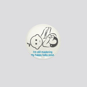 Yoga_HappyBaby_Blue Mini Button