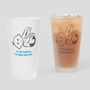 Yoga_HappyBaby_Blue Drinking Glass