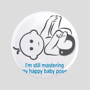 "Yoga_HappyBaby_Blue 3.5"" Button"