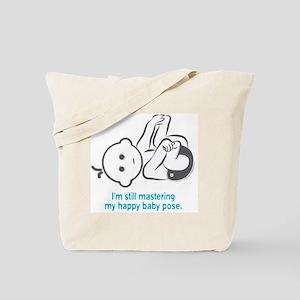 Yoga_HappyBaby_Blue Tote Bag