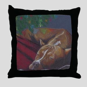 SilentNight-Raven2square Throw Pillow