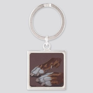 Pitty Feet Square Keychain