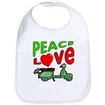 Peace Love Motor Scooter Bib