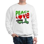 Peace Love Motor Scooter Sweatshirt