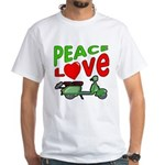 Peace Love Motor Scooter White T-Shirt