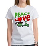 Peace Love Motor Scooter Women's T-Shirt