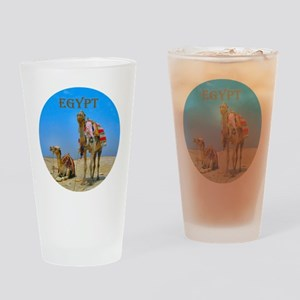 Egypt - camels logo round Drinking Glass
