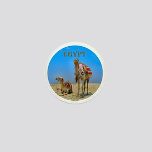 Egypt - camels logo round Mini Button