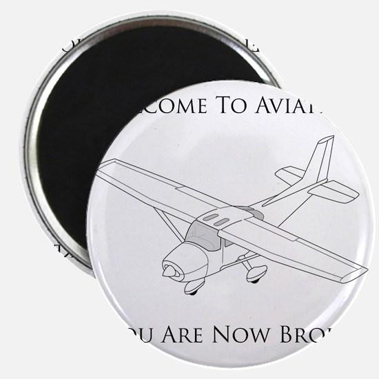 Aviation Broke Black Text Magnet