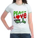 Peace Love Motor Scooter Jr. Ringer T-Shirt