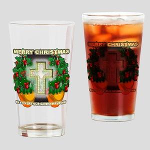 Christmas cross n stuff Drinking Glass