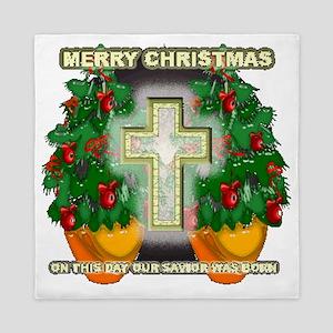 Christmas cross n stuff Queen Duvet